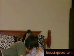 Two pretty young emos having gratis free gay porn on bed part6