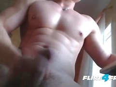 Harry Flirt Strips Down Revealing His Nice Build and Big Uncut Cock