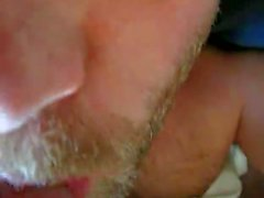 Cumming on my buddy's tongue close-up