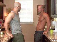 Horny bald gays David Chase and Rod Daily sucking dicks and fucking