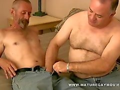 Fat Daddy Gets His Ass Barebacked By Skinny Lover