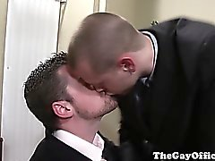 Gay office studs fucking in the board room