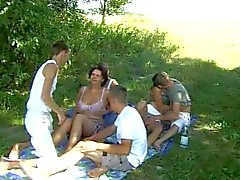 Bi sex teen! Sex party outdoor