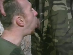 Horny soldiers fingering their nasty ass holes