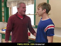 FamilyDick - Caring Stepgrandpa Fucks A Boy In The Kitchen