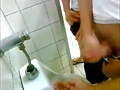 Public toilet hand job! Cum in my hand baby! xx