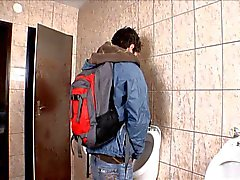Public Bathroom Bareback